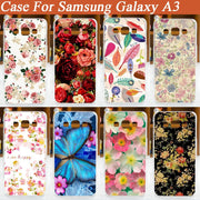 Painting Beautiful Flowers Hard Mobile Phone Case Cover For Samsung Galaxy A3 A3000 A300 A300F Hot Pattern Hard Shell Cover