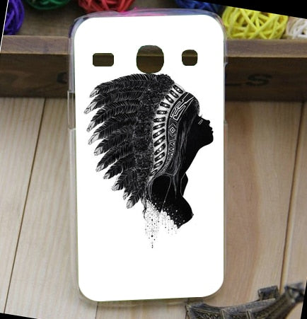 Painting White And Black Animals Hard PC Case FOR Samsung Galaxy Core I8262 8262 I8260 Fashion Cover Case Free Shipping