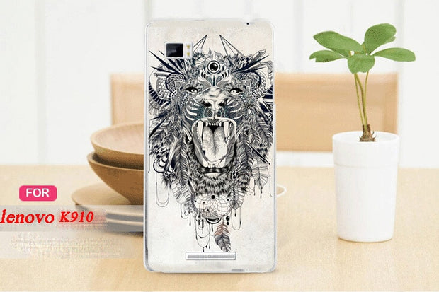 Painting White And Black Animals Case Cover For Lenovo Vibe Z K910/ 8 Patterns Colored Case For Lenovo K910 Vibe Z Phone Cover