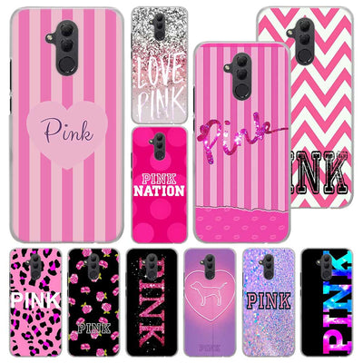 Pretty Love Pink Phone Case For Huawei Mate 20 Pro Mate 10 20 Lite 9 Hard PC Cases For Huawei Mate 20 Pro Case Cover