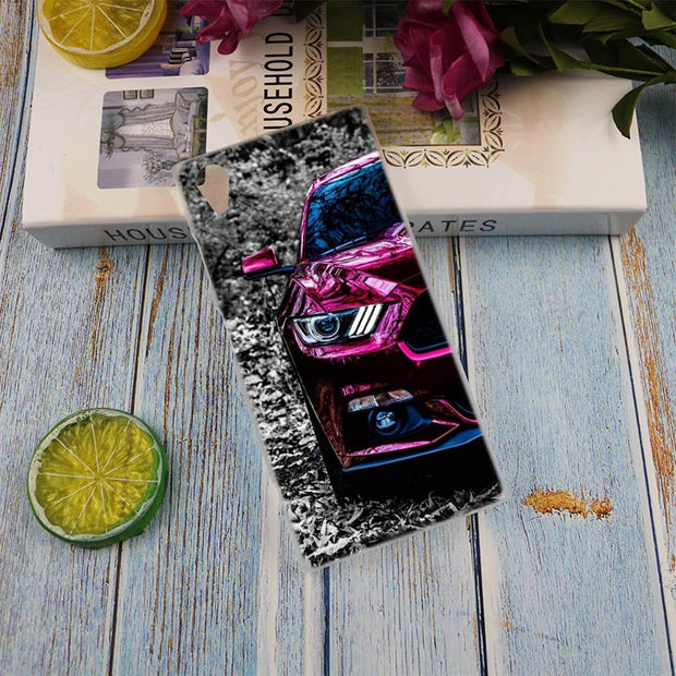 Sport Car Lamp Style Clear Cover Case For Sony Xperia Z3 Z5 Premium M4 Aqua M5 X XA XA1 C4 C5 E4 E5 XZ XZ2 Compact Plus