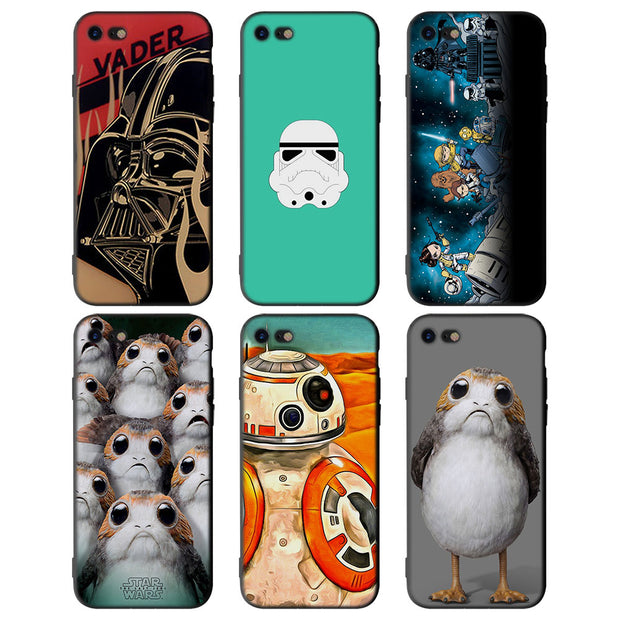 Star Wars R2D2 Darth Vader For IPhone X XR XS MAX Soft Silicone