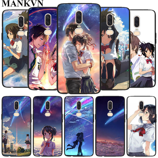 Your Name Anime Black Soft Silicone Cases Cover For Oneplus 6 6T 5T Rubber TPU Back Phone Case
