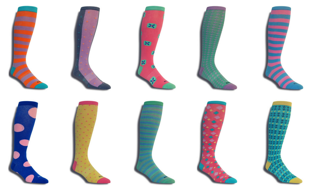 Men's Premium Stretch 10 Pack CottonPoly Over-The-Calf Dress Socks