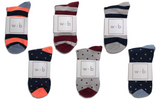 Mens Premium Stretch CottonPoly 6-Pack Colorful Over-The-Calf Dress Socks