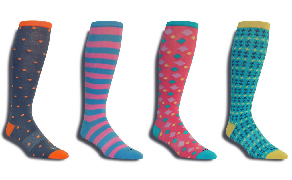 Men's Premium 4 Pack Colorful Over-The-Calf Dress Socks