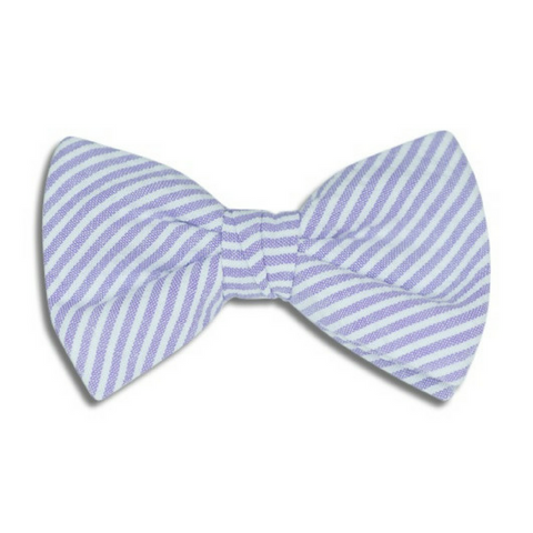 Lavender Stripes Junior Bow Tie