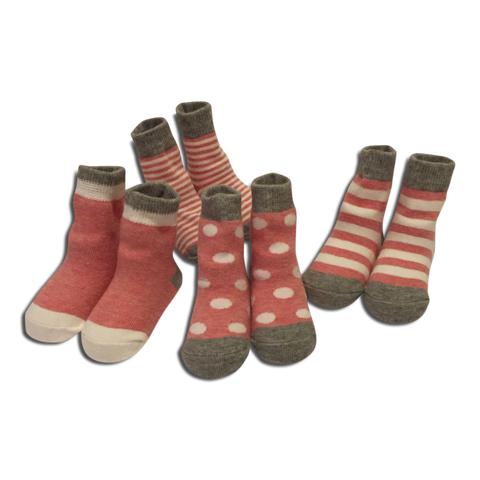4 pack Baby Girl Red Socks