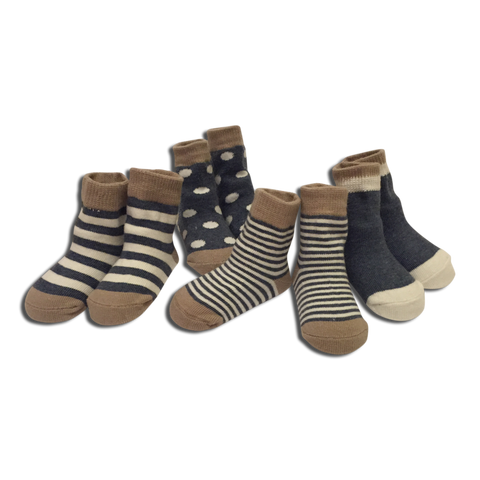 4 pack Baby Boy Blue Socks