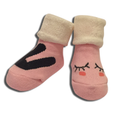 3 pack Baby Girls Winter Pink Socks