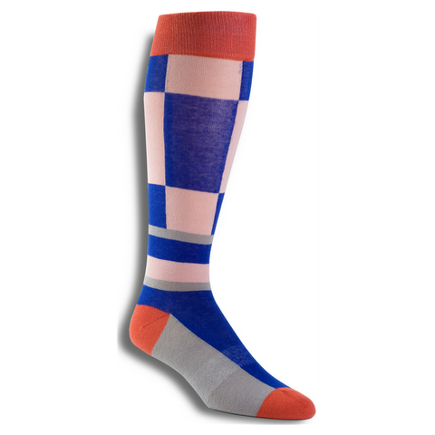 Men's Premium Stretch CottonPoly Over-The-Calf CheckMate Dress Socks