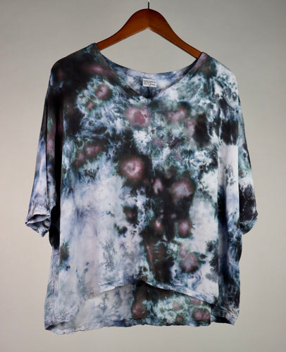 Small Flowy High Low Rayon Top