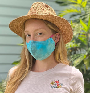 3 Layer Mask w/ Pocket + Nose Wire