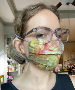 3 Layer Pleated Mask with Nose Wire