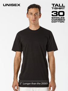 Medium Tall 100% Cotton T-Shirt
