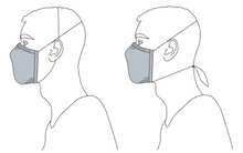 Load image into Gallery viewer, French Terry Face Mask with Nose Wire