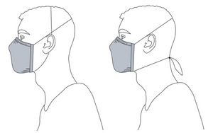 French Terry Face Mask with Nose Wire