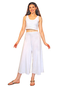 Small Wide Leg Cropped Pant
