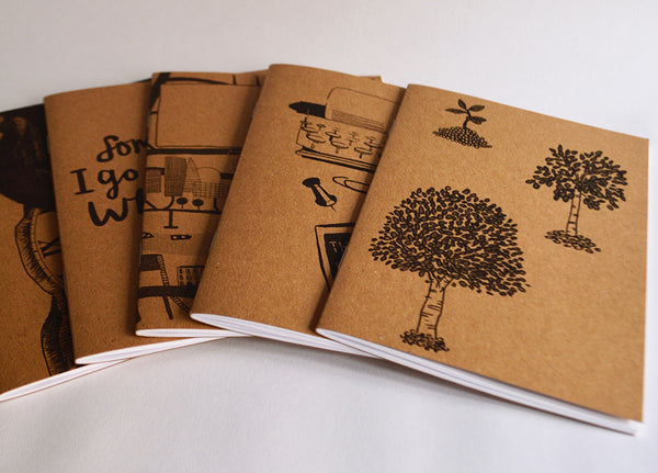 Set of 5 Notebooks: Green