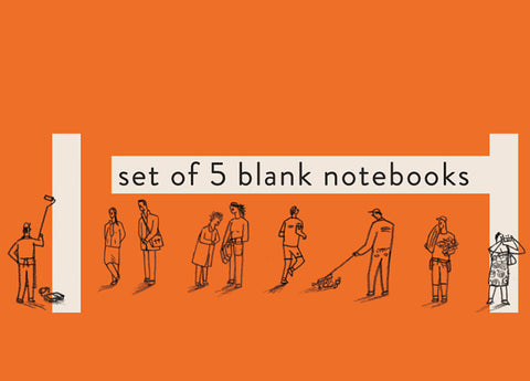 Set of 5 Notebooks: Orange
