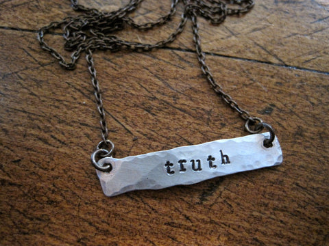 tell the truth bar necklace