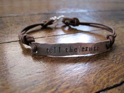tell the truth wrap chord bracelet