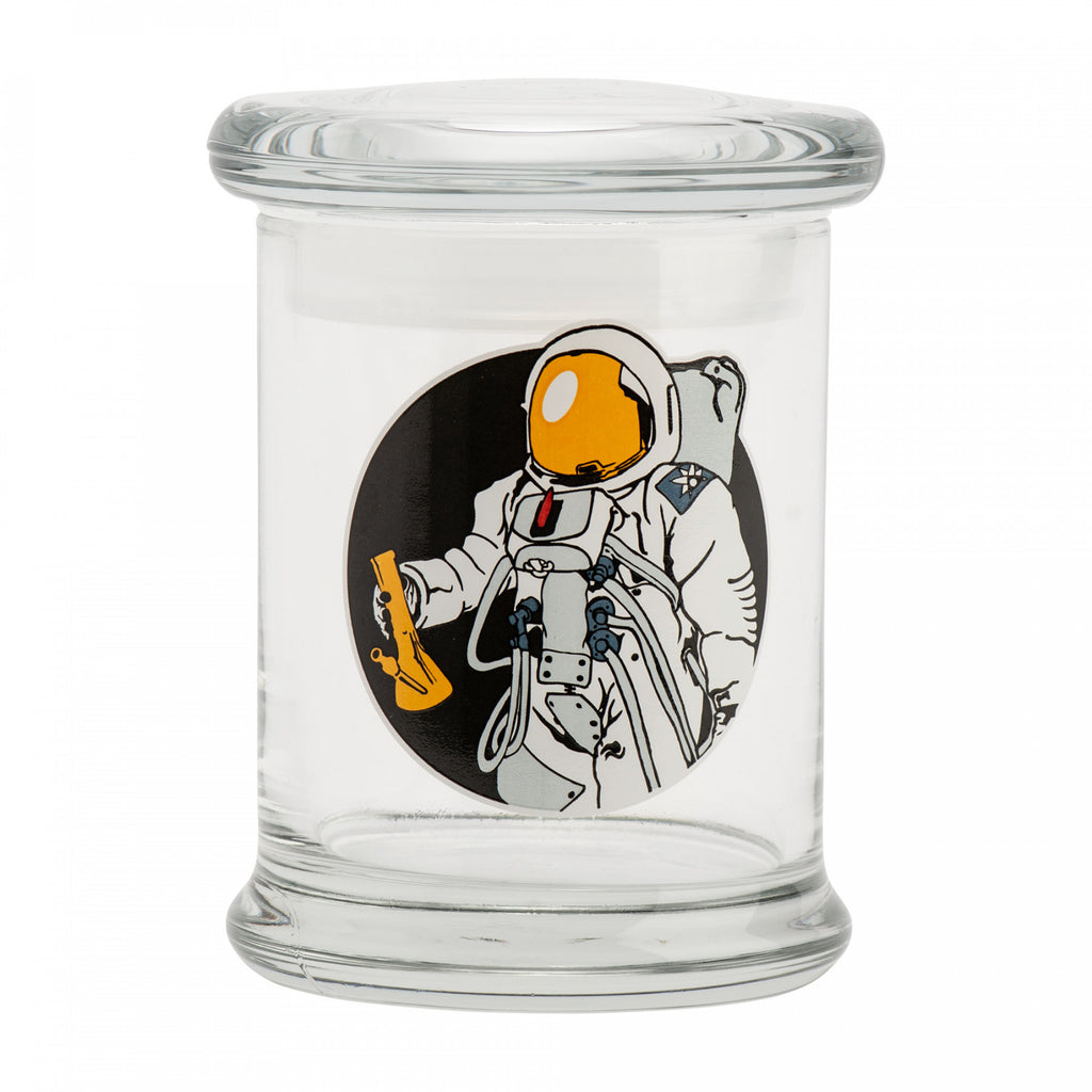 420 Science Clear Glass Pop-Top Jar - Space Man