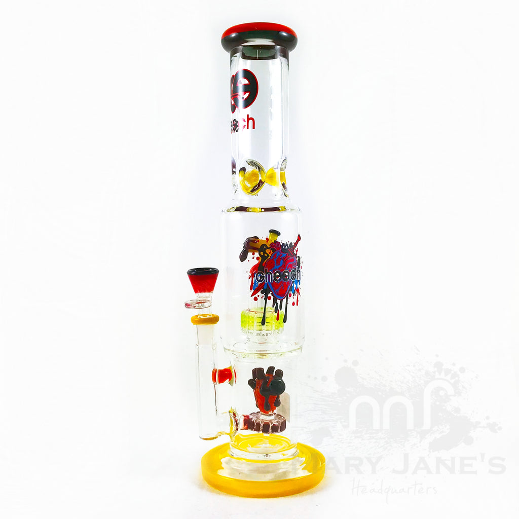 "Cheech 15"" Showerhead Heart Water Pipe"