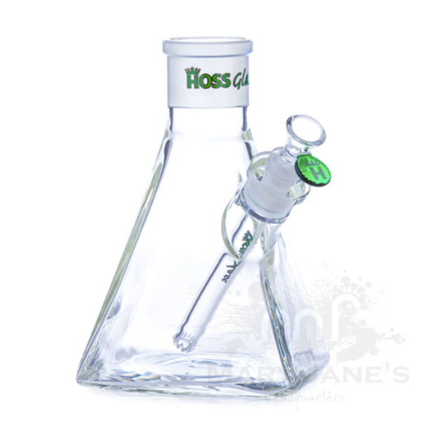 "HOSS 8"" Tall 7mm Thick Pyramid Build-a-Bong Base - Mary Jane's Headquarters"