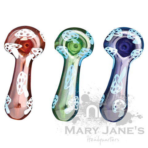 Picture of Red Eye Glass Mushrooms Hand Pipe