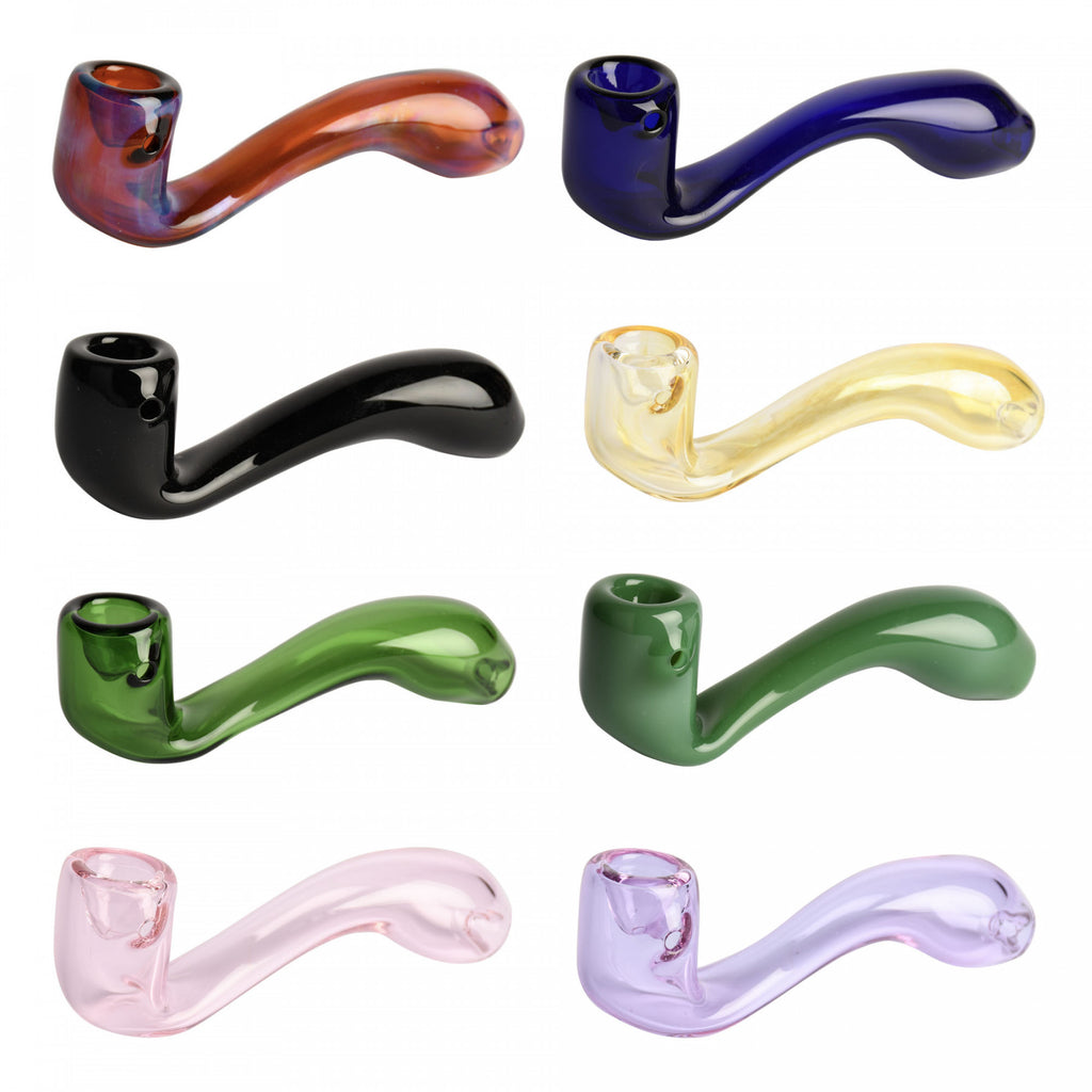 "Red Eye Glass 5.5"" Sherlock Hand Pipe"