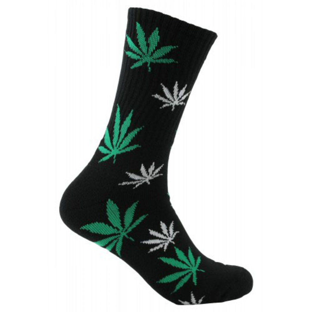 Mad Toro Pot Leaf Socks black