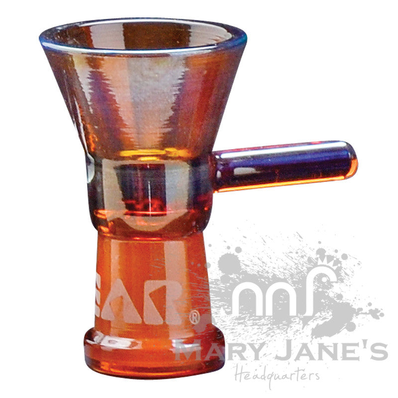 GEAR Female Small Cone Pull-Outs (Limited Quantity)-Amber Bong Bowl