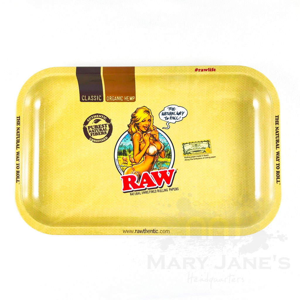 Raw Girl Rolling Trays