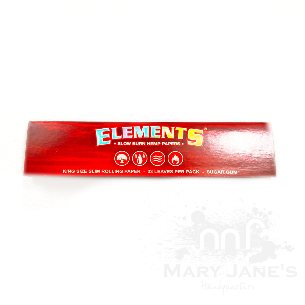 Elements Red Slowburn Hemp Rolling Papers