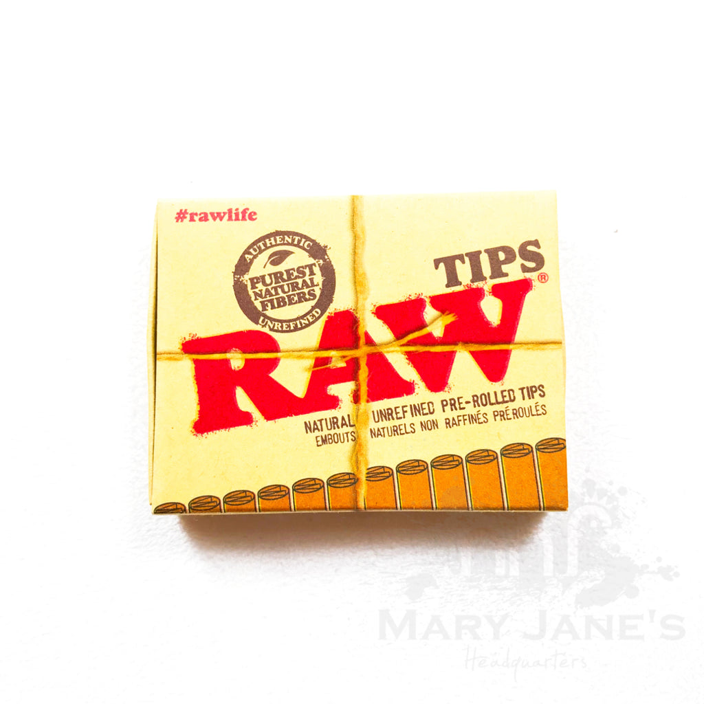 RAW Pre-Rolled Tips - Mary Jane's Headquarters