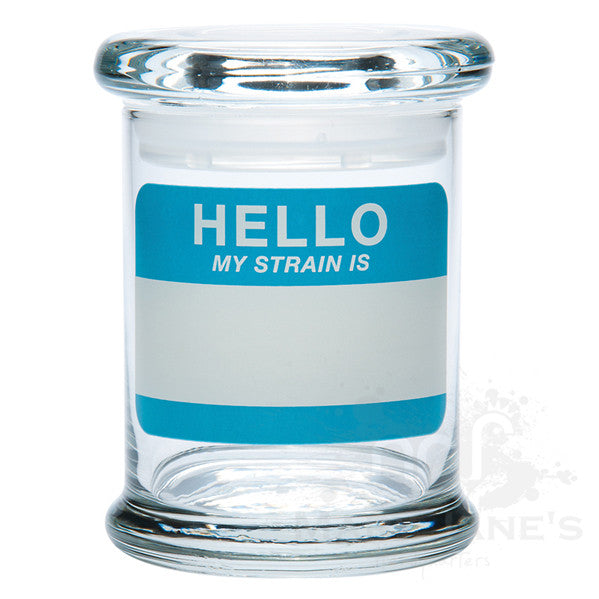 420 Science Clear Glass Pop-Top Jar - Hello Write & Erase