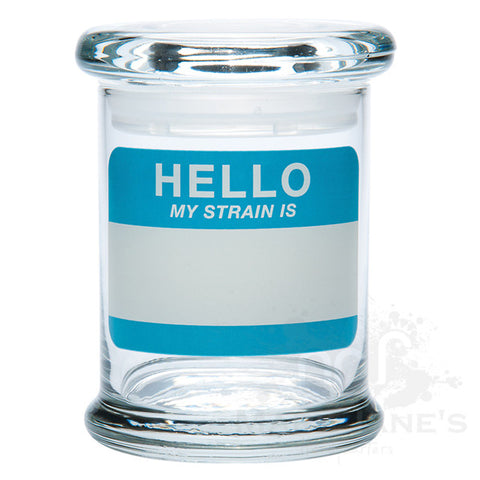 Picture of 420 Science Clear Glass Pop-Top Jar - Hello Write & Erase