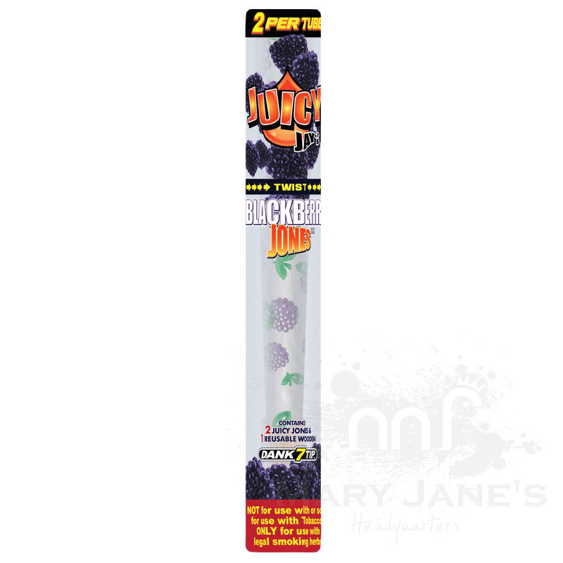 Juicy Jay's Jones Prerolled Flavoured Rolling Paper with Triple Dipped Flavoured Wood Tip - Blackberry