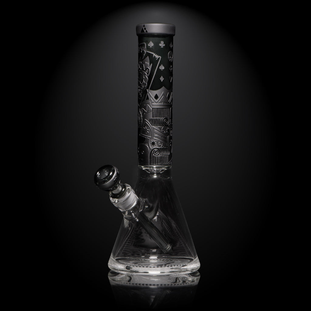 "Milkyway Glass 15"" Tall Skull Emperor Smoke Colored Beaker Bong"