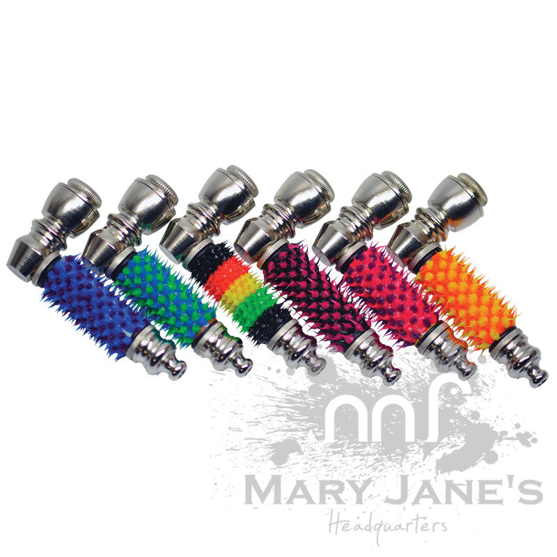 Rubber Spike Nickel Metal Pipe - Mary Jane's Headquarters