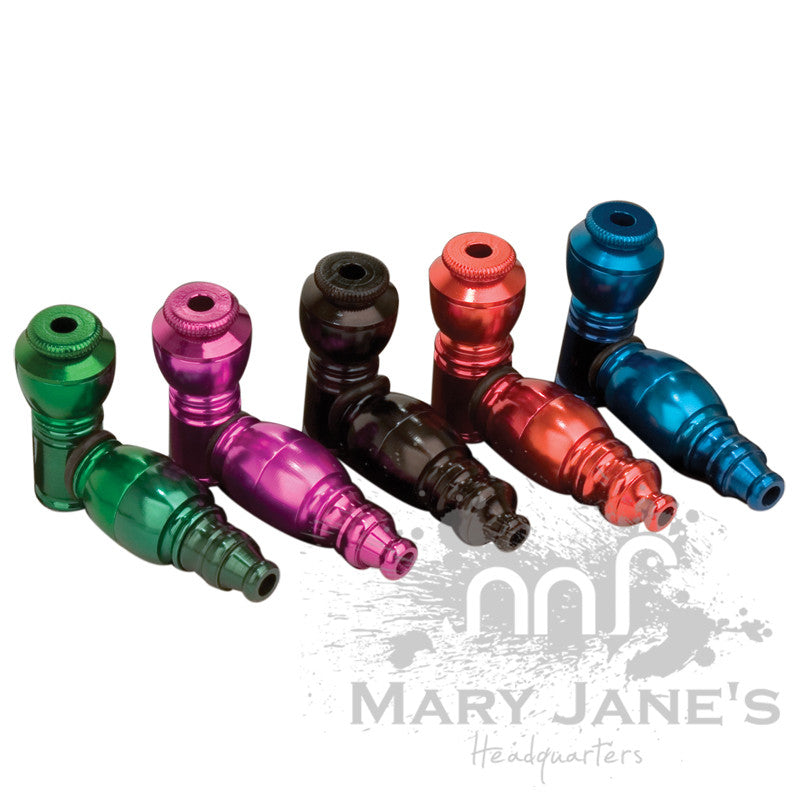 Small Chamber Anodized Metal Pipe - Mary Jane's Headquarters
