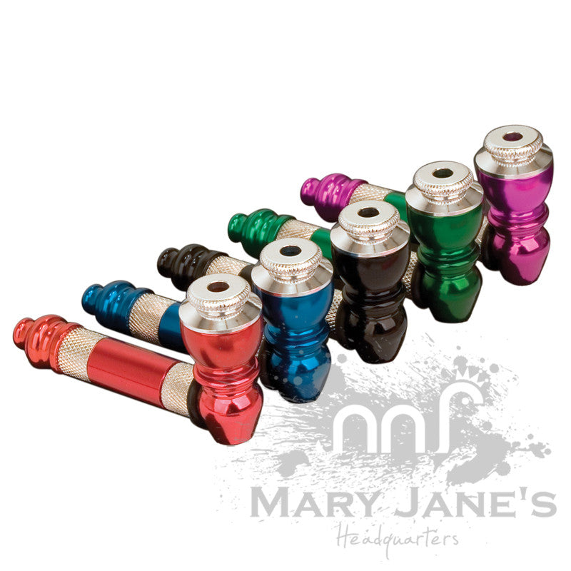 Medium Deluxe Anodized Metal Pipe - Mary Jane's Headquarters