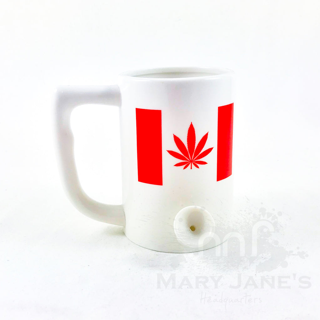 "Ceramic Coffee Mug Pipe ""Canada Leaf"""
