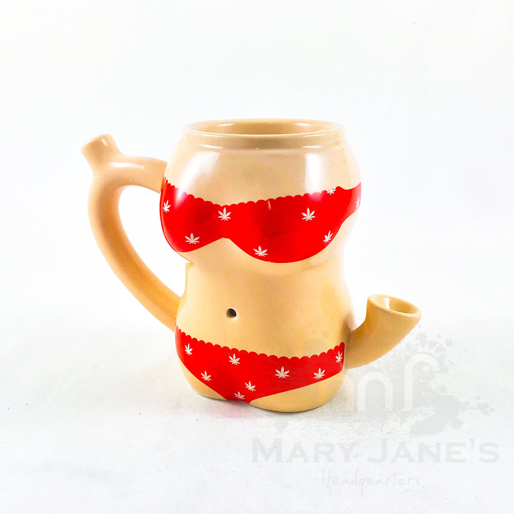 Ceramic Red Bikini Mug Pipe