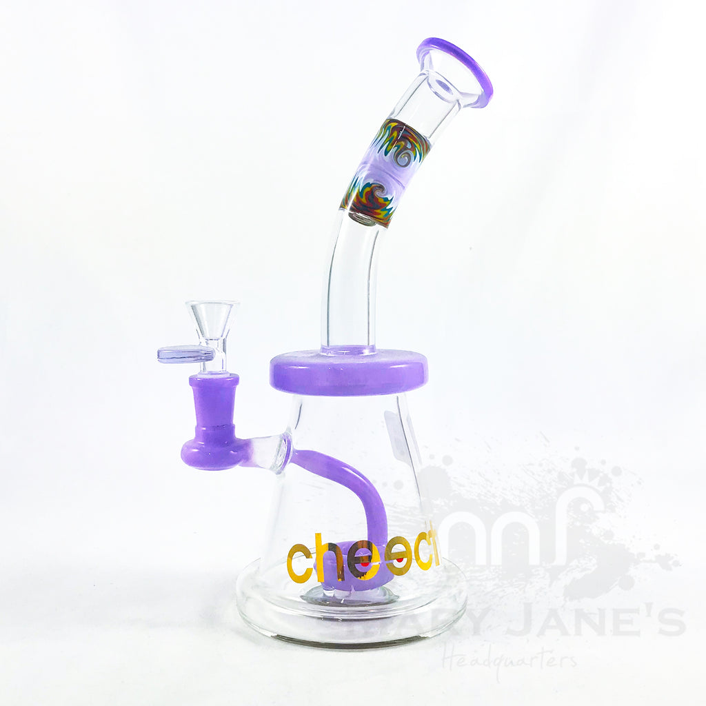 "Cheech Glass 11"" Tall Swirly Dream Dab Rig - Purple"