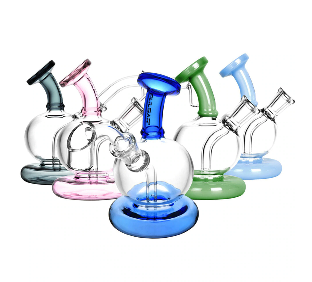 "Pulsar 4"" Mini Sphere Dab Rig - Assorted Colours"