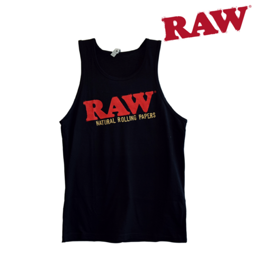 Raw Mens Black Tank Top XL