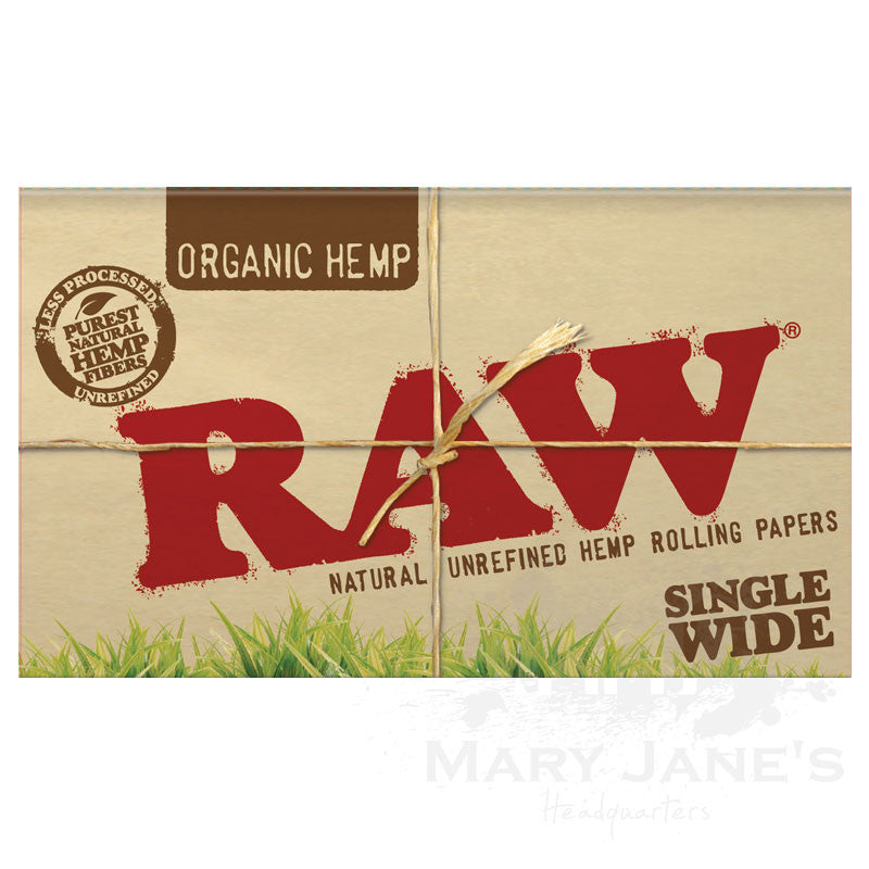 Raw Organic Rolling Papers - Single Wide Double Window