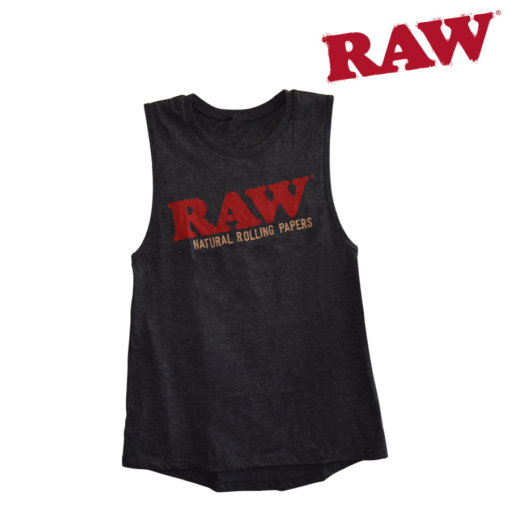 Raw Ladies Heather Grey Tank Top